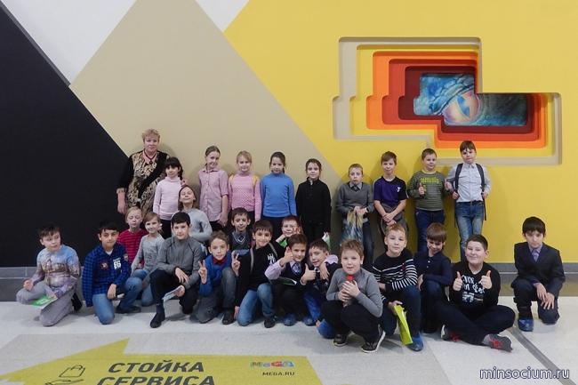 Воспитанники детских социальных учреждений в новогодней благотворительной акции