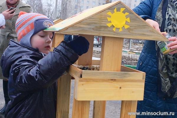 Сормовский детский реабилитационный центр организовал весеннюю акцию ко Дню птиц